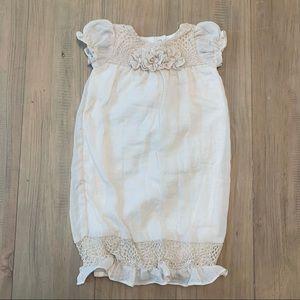 Isobella & Chloe | Dusty Pink/Beige Boho Chic Gown